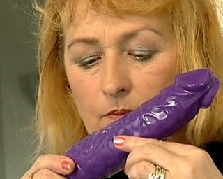 She really loves her purple present