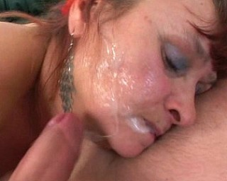 Housewife making up with her husband