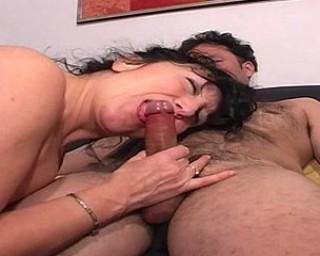 Kinky housewife sucking and fucking hard