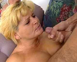 Blonde mature slut fucking and sucking
