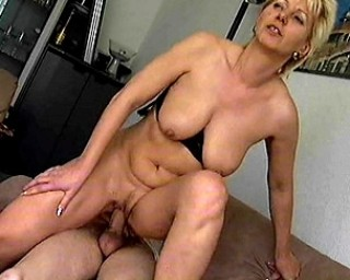Naughty housewife fucked on the couch