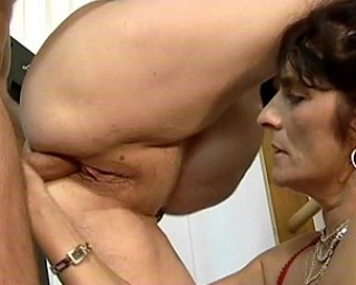 Two mature sluts share one hard cock